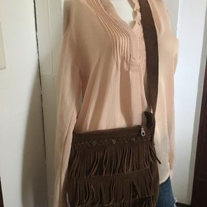 MINNETONKA Fringe Suede Cross Body